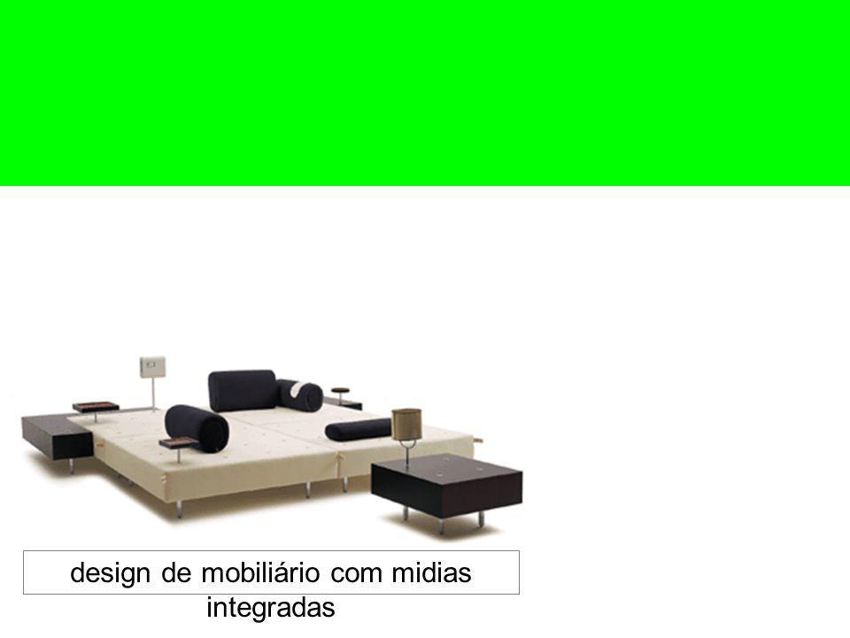 design de mobiliário com midias integradas