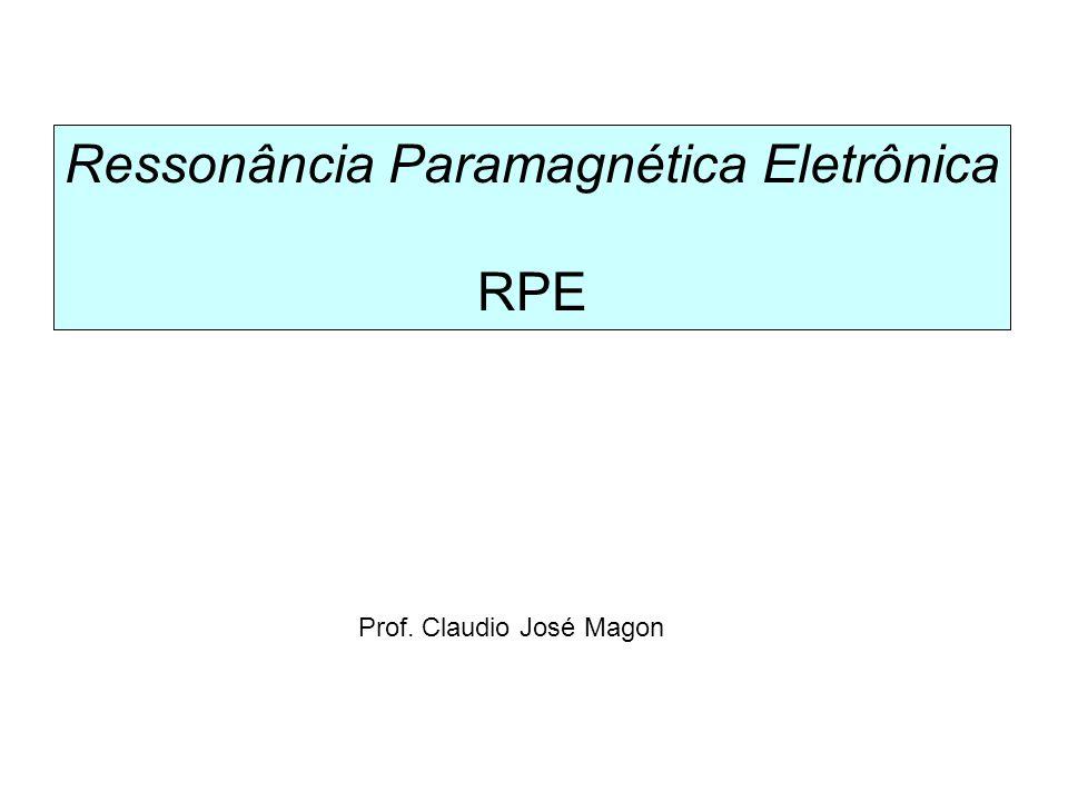Um caso comum: fator-g anisotrópico + interação hiperfina 1 – Interação Zeeman eletrônica 2 – Termo de campo zero do elétron 3 – Interação Zeeman nuclear 4 – Interação hiperfina elétron-núcleo