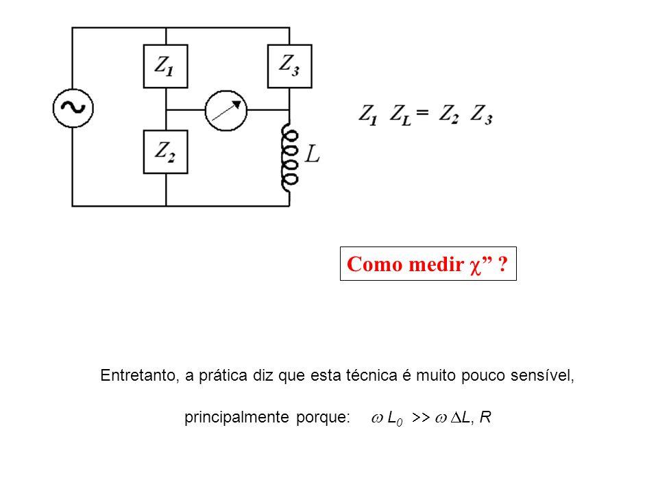 Uma modificação interessante acrescentar um capacitor tal que Quando isto acontece, o capacitor mata o indutor o circuito fica assim: L, R : mesma ordem de grandeza
