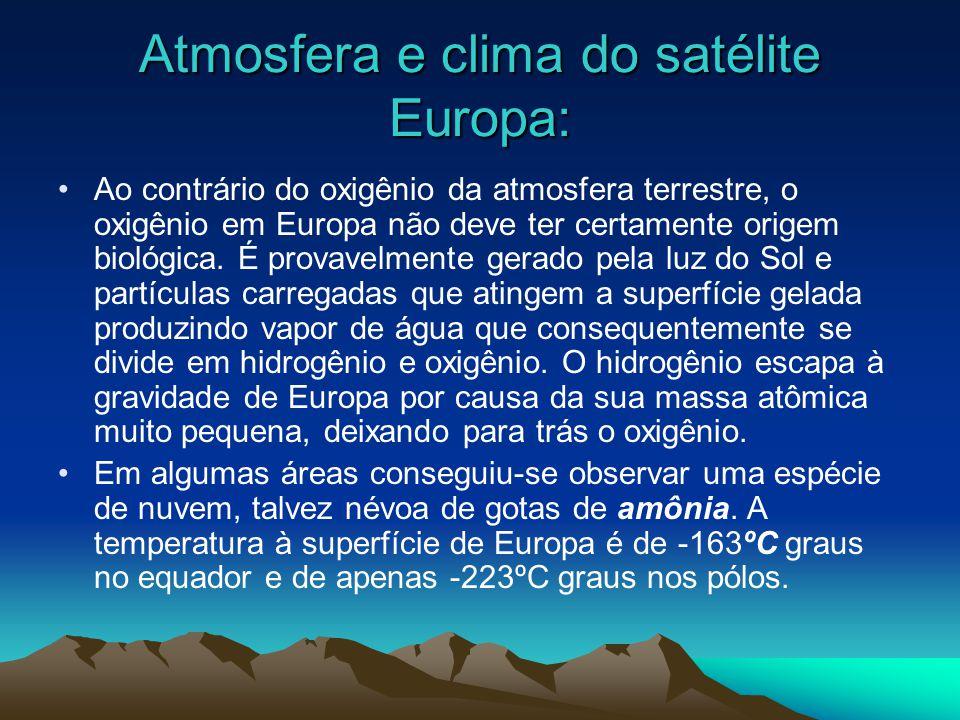 Europa(satélite): Europa é uma das quatro luas do planeta Júpiter conhecidas como Luas de Galileu. Europa é única por si própria, apresenta-se com uma