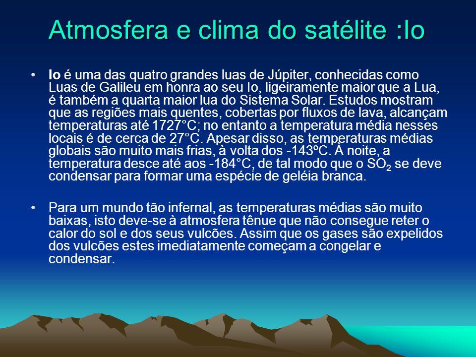 Satélite: Io Io é uma das quatro grandes luas de Júpiter, conhecidas como Luas de Galileu em honra ao seu descobridor Galileu Galilei.Io é uma das qua