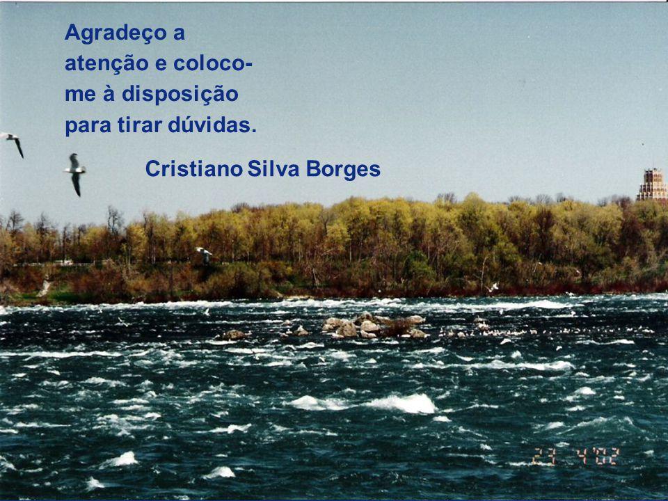 37 Cristiano Silva Borges Agradeço a atenção e coloco- me à disposição para tirar dúvidas.