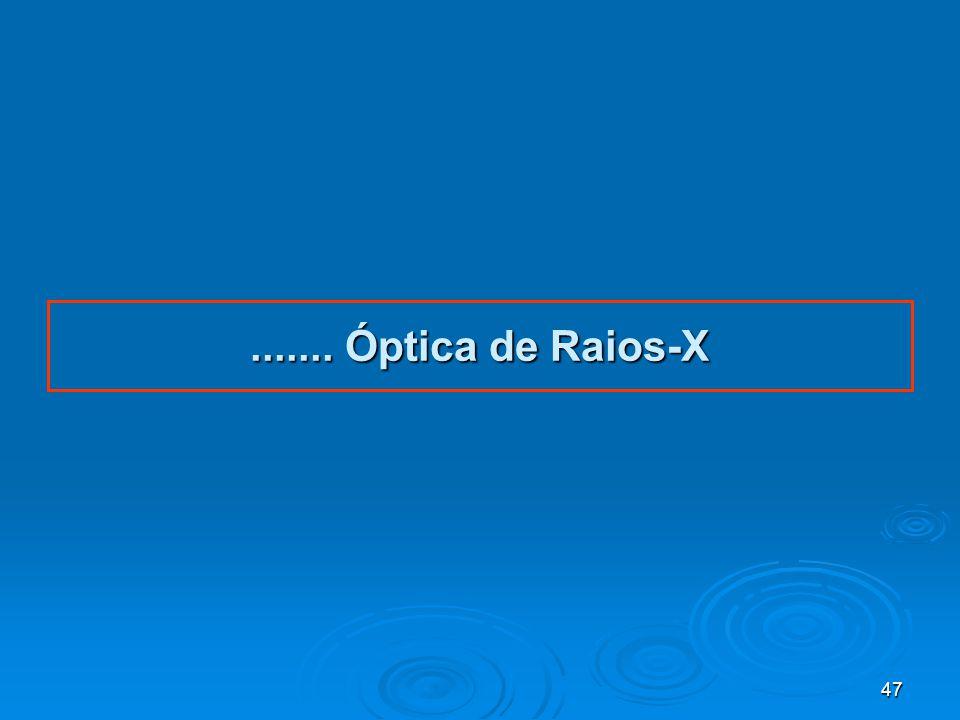47....... Óptica de Raios-X