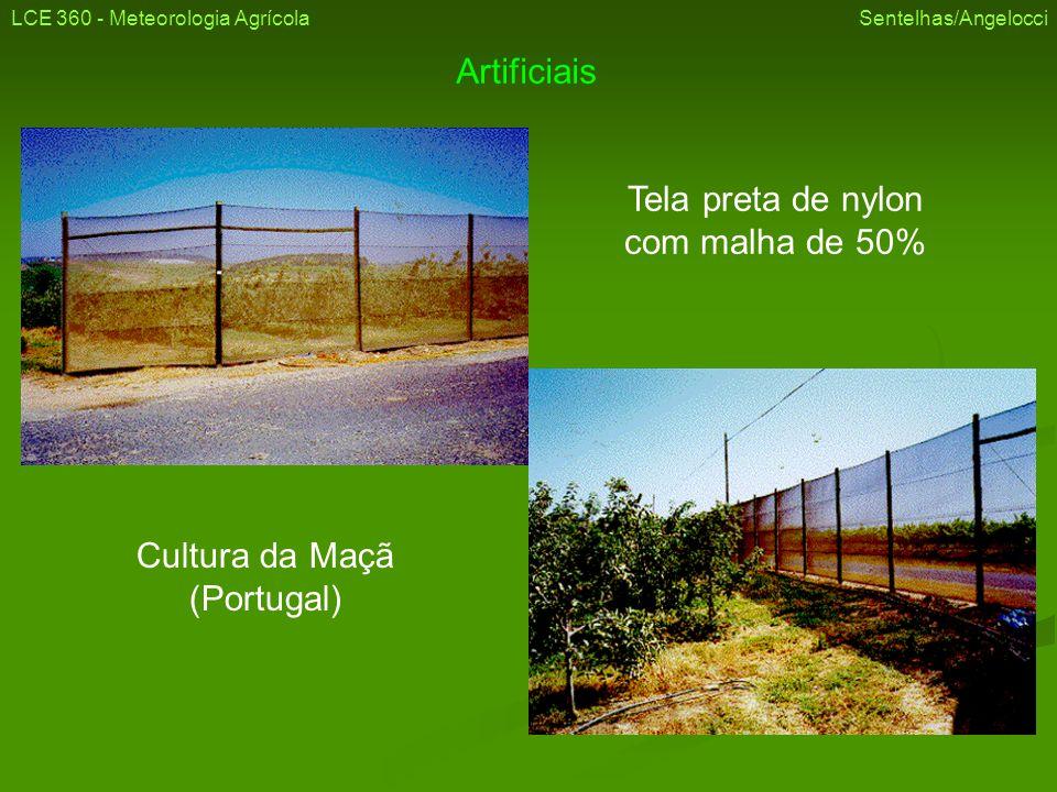 Artificiais Tela preta de nylon com malha de 50% Cultura da Maçã (Portugal) LCE 360 - Meteorologia Agrícola Sentelhas/Angelocci