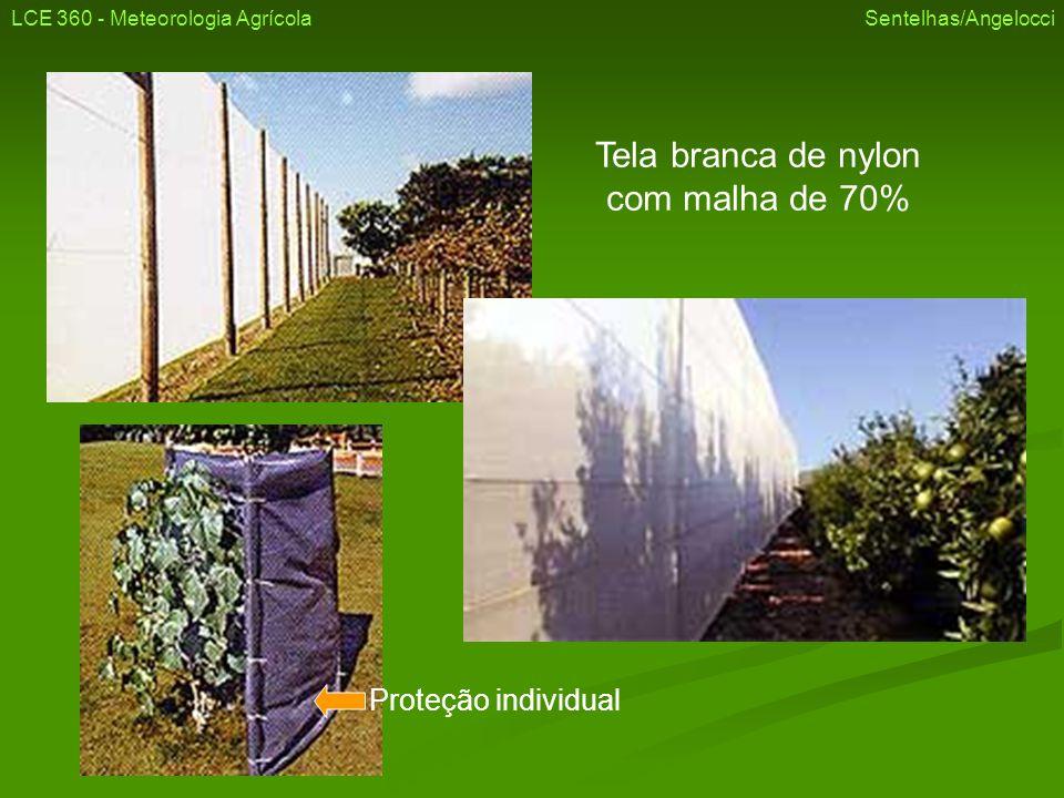 Tela branca de nylon com malha de 70% Proteção individual