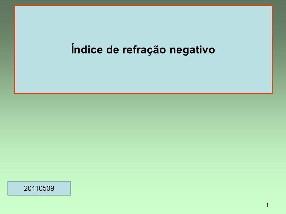 Índice de refração negativo 1 20110509