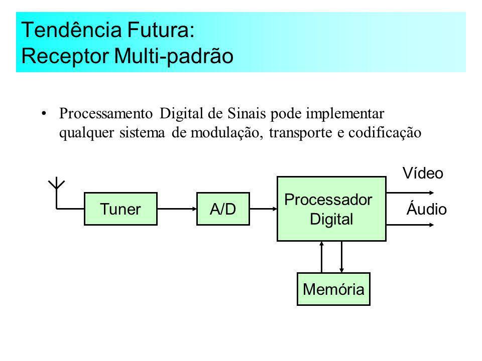 Tendência Futura: Receptor Multi-padrão Processamento Digital de Sinais pode implementar qualquer sistema de modulação, transporte e codificação Tuner