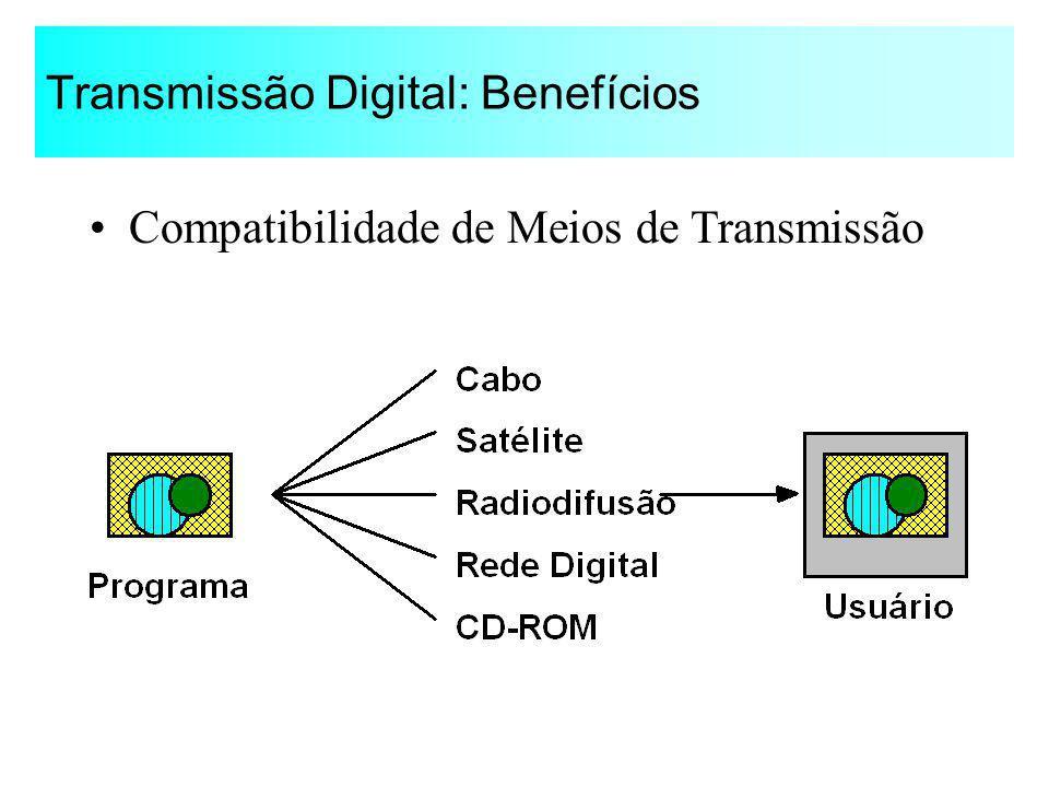 Transmissão Digital: Benefícios Compatibilidade de Meios de Transmissão