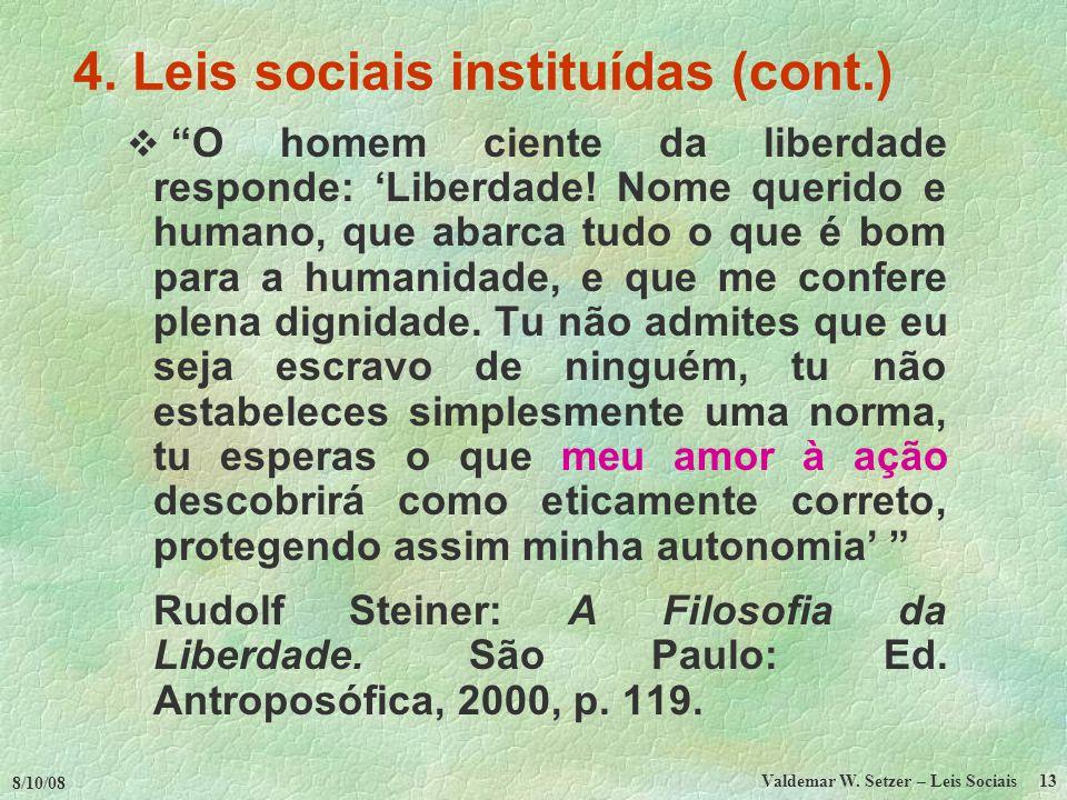 8/10/08 Valdemar W.Setzer – Leis Sociais 13 4.