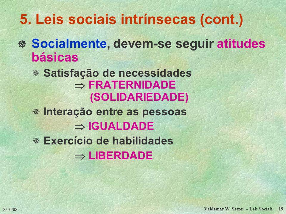 8/10/08 Valdemar W.Setzer – Leis Sociais 19 5.
