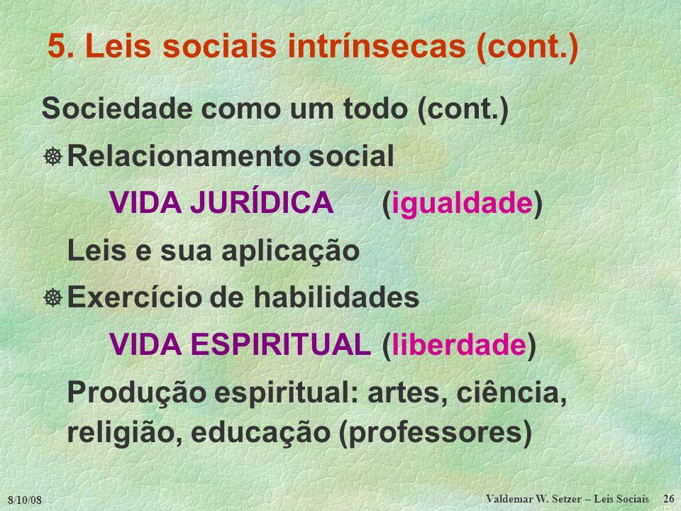 8/10/08 Valdemar W.Setzer – Leis Sociais 26 5.