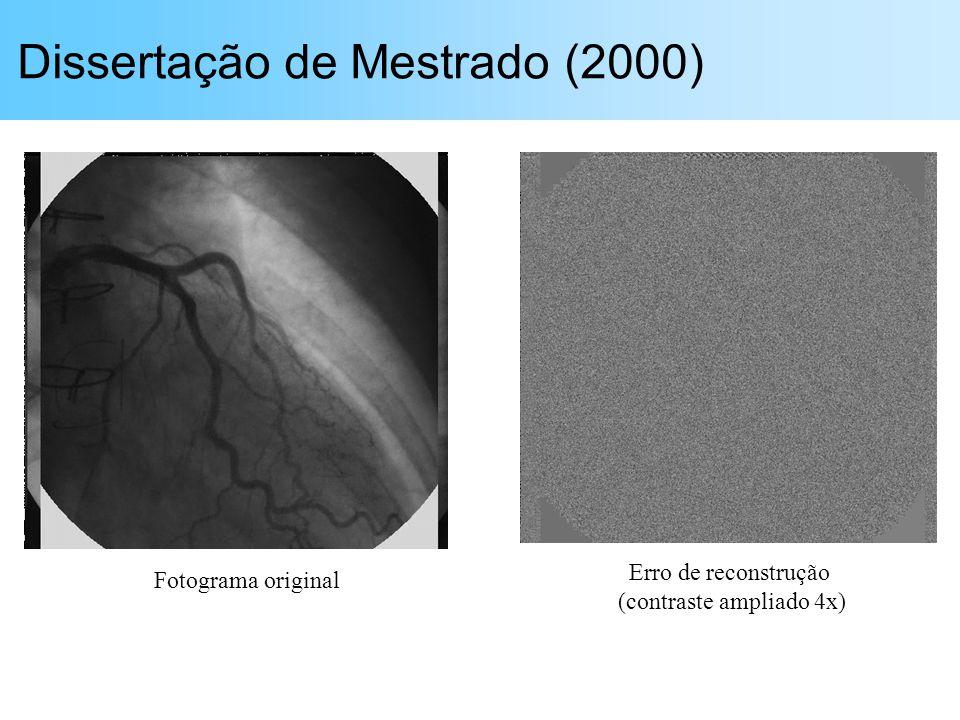 Dissertação de Mestrado (2000) Fotograma original Erro de reconstrução (contraste ampliado 4x)