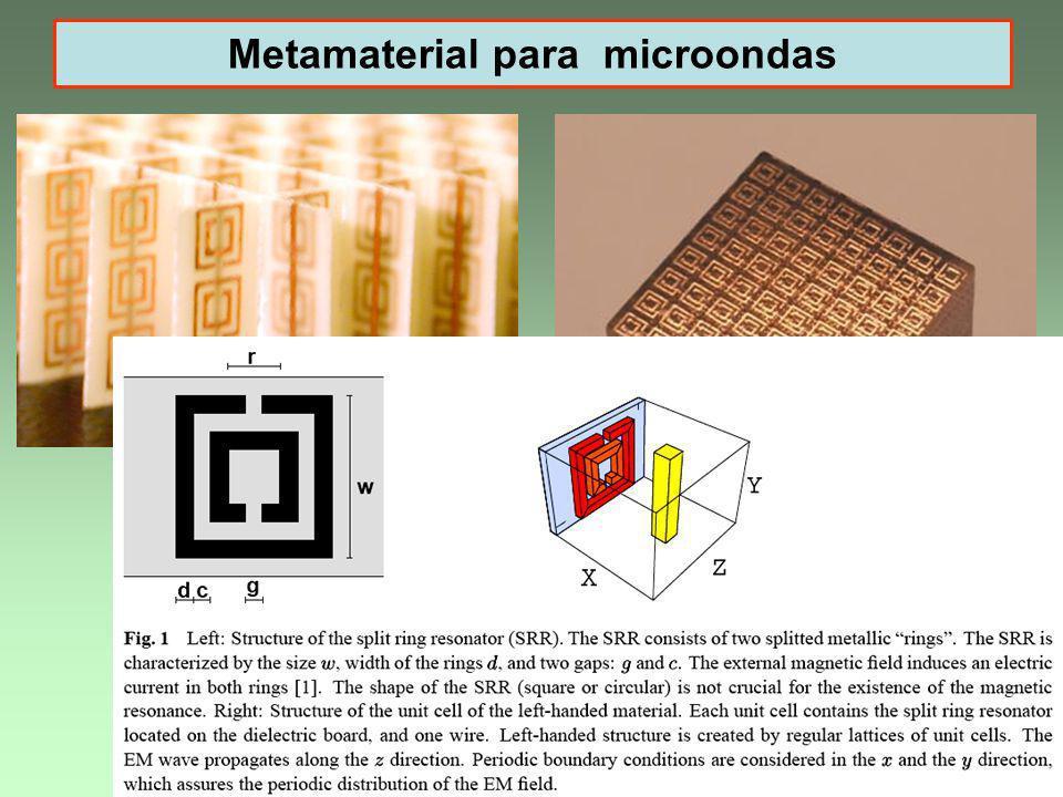 LAvFis 200911 Metamaterial para microondas