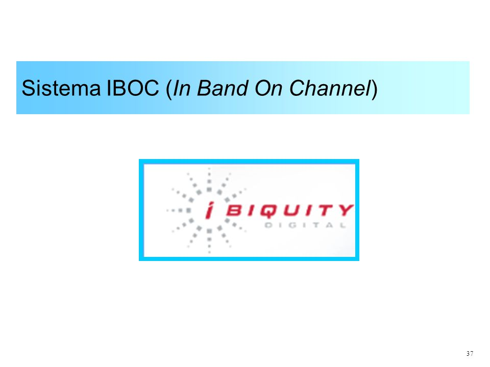 37 Sistema IBOC (In Band On Channel)
