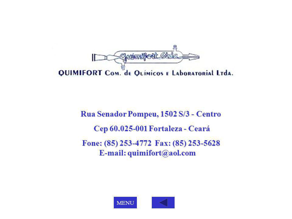 Rua Senador Pompeu, 1502 S/3 - Centro Cep 60.025-001 Fortaleza - Ceará Cep 60.025-001 Fortaleza - Ceará Fone: (85) 253-4772 Fax: (85) 253-5628 E-mail: