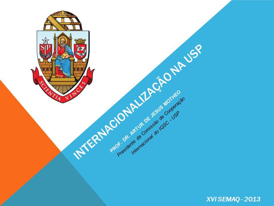 RELAÇÕES INTERNACIONAIS http://www.usp.br/internationaloffice A Vice-Reitoria Executiva de Relações Internacionais (VRERI) tem como objetivos: I.
