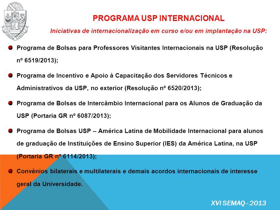 Núcleo Internacional da USP com sede em São Paulo – região abrangida: América do Sul, América Central e África Subsaariana Diretor: Profa.
