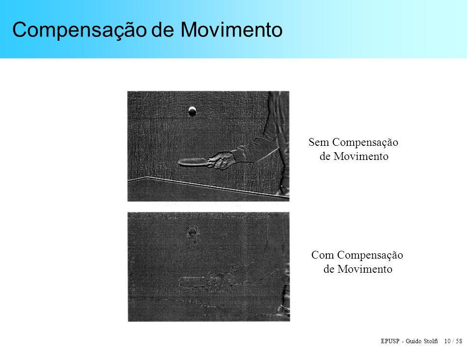 EPUSP - Guido Stolfi 10 / 58 Compensação de Movimento Sem Compensação de Movimento Com Compensação de Movimento