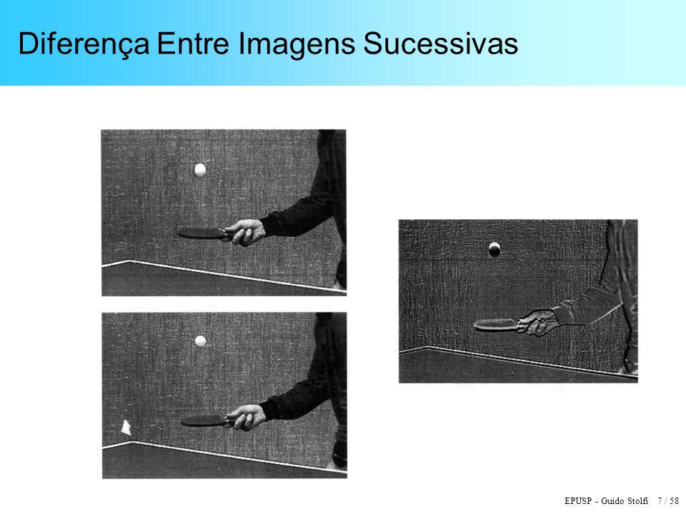 EPUSP - Guido Stolfi 7 / 58 Diferença Entre Imagens Sucessivas