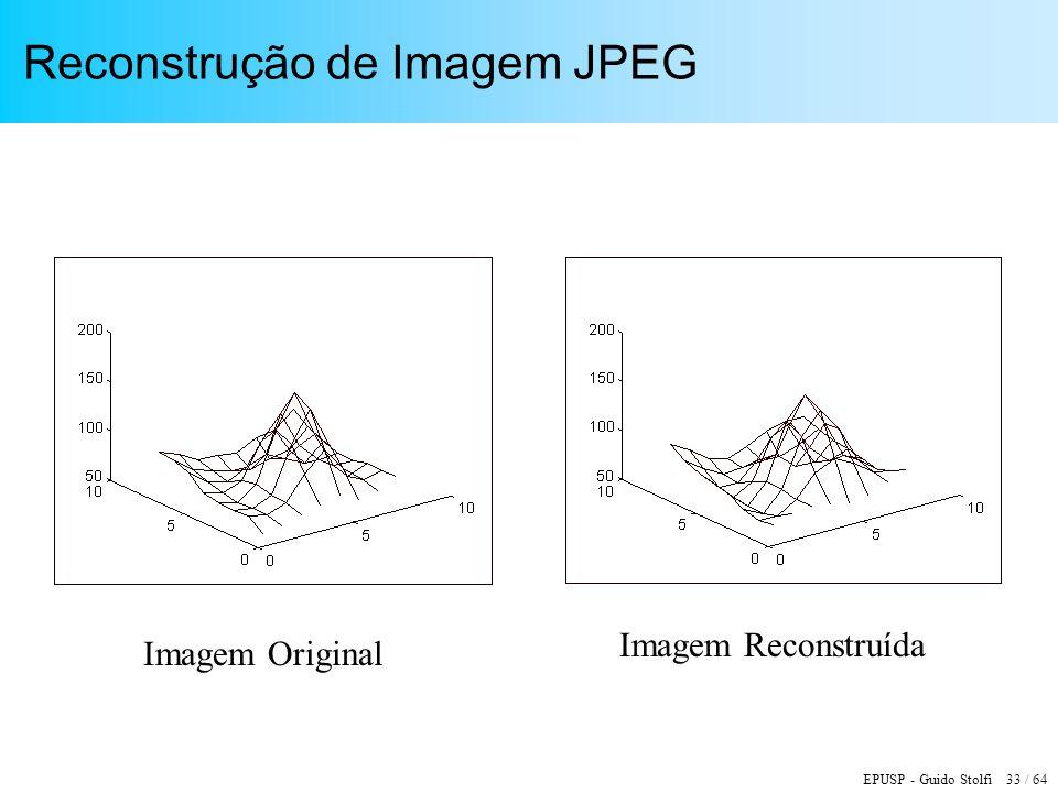 EPUSP - Guido Stolfi 33 / 64 Reconstrução de Imagem JPEG Imagem Original Imagem Reconstruída