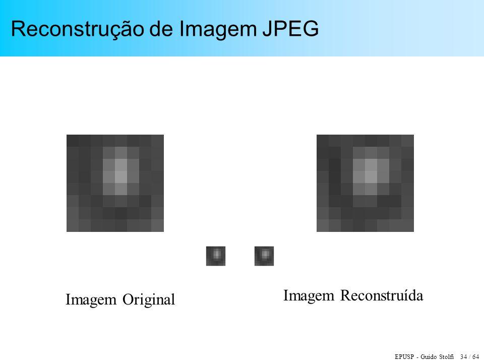 EPUSP - Guido Stolfi 34 / 64 Reconstrução de Imagem JPEG Imagem Original Imagem Reconstruída