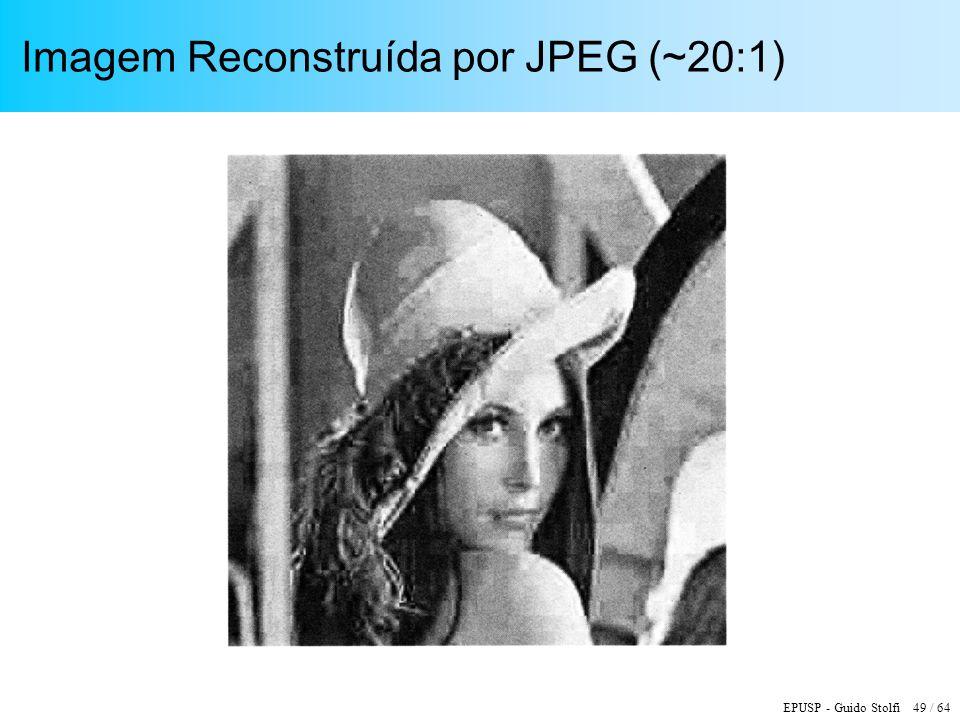 EPUSP - Guido Stolfi 49 / 64 Imagem Reconstruída por JPEG (~20:1)