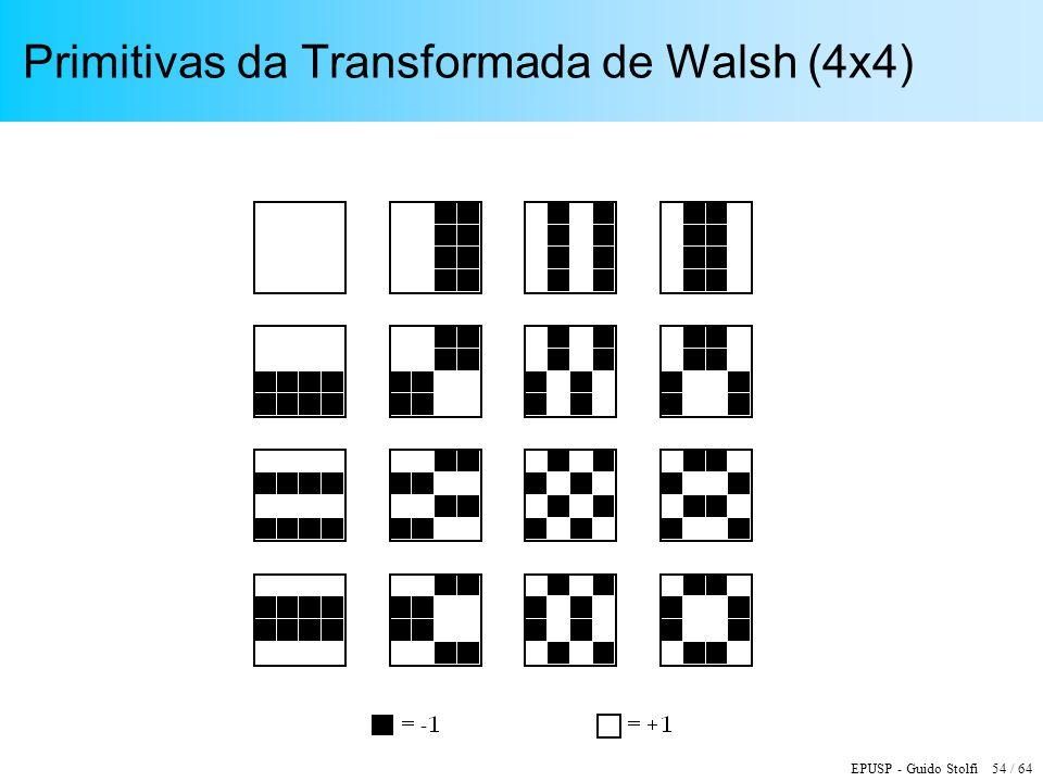 EPUSP - Guido Stolfi 54 / 64 Primitivas da Transformada de Walsh (4x4)