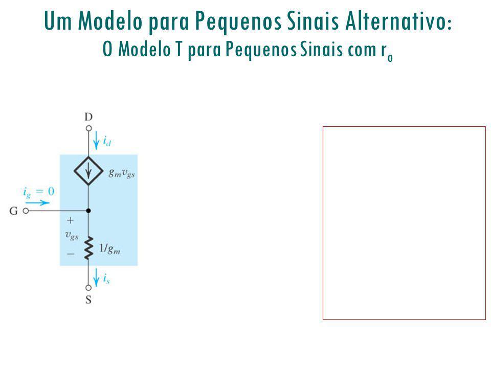 Um Modelo para Pequenos Sinais Alternativo: O Modelo T para Pequenos Sinais com r o