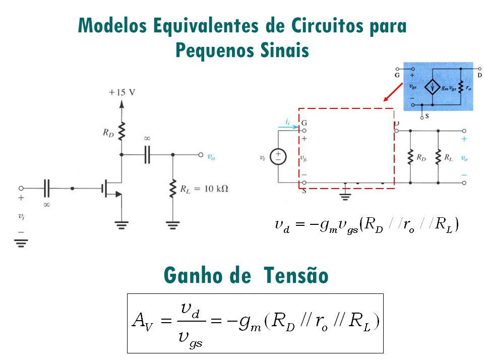 Ganho de Tensão Modelos Equivalentes de Circuitos para Pequenos Sinais