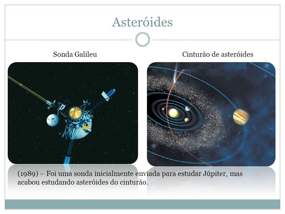 Asteróides Sonda GalileuCinturão de asteróides (1989) – Foi uma sonda inicialmente enviada para estudar Júpiter, mas acabou estudando asteróides do ci