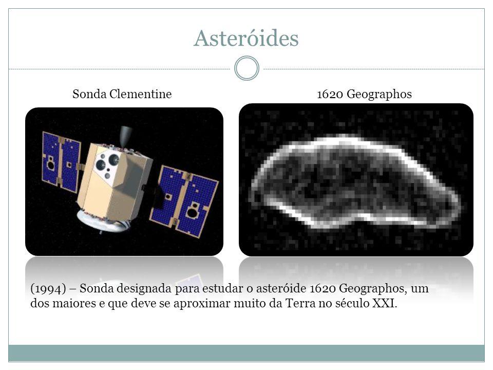 Asteróides 1620 GeographosSonda Clementine (1994) – Sonda designada para estudar o asteróide 1620 Geographos, um dos maiores e que deve se aproximar m