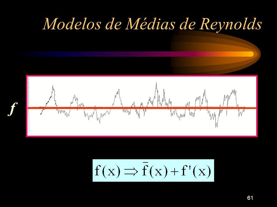 61 Modelos de Médias de Reynolds f