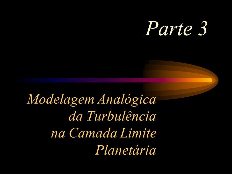Modelagem Analógica da Turbulência na Camada Limite Planetária Parte 3