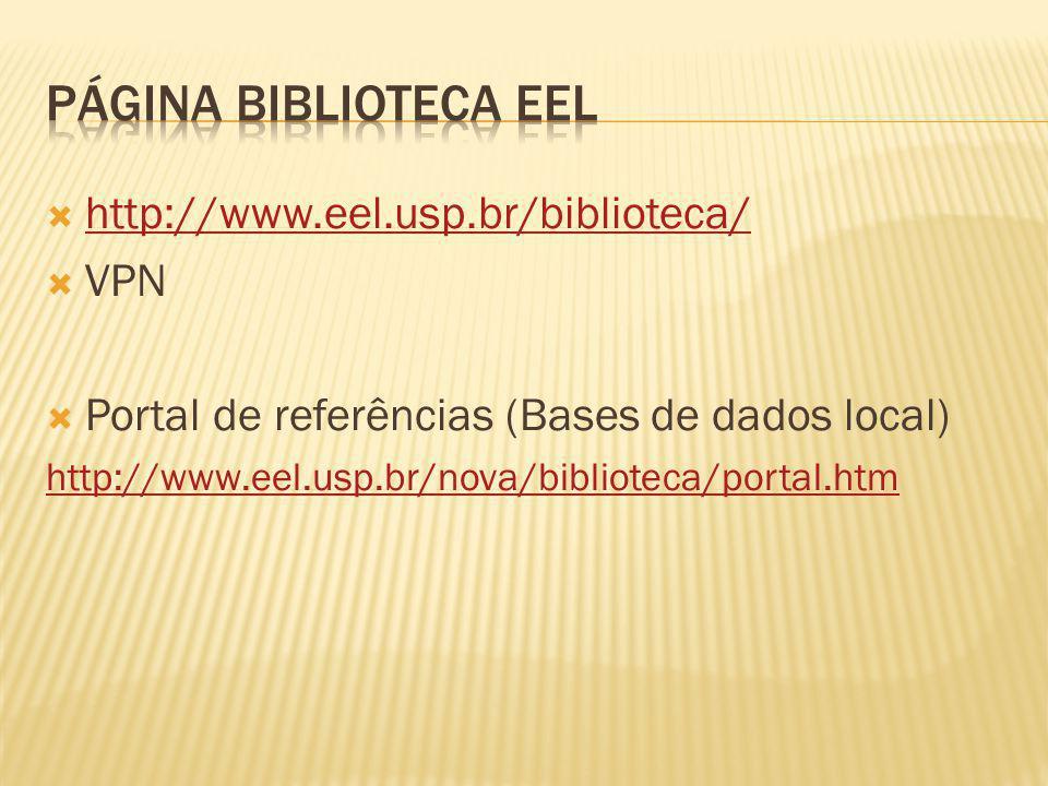 www.usp.br/sibi Dedalus Base de dados (multidisciplinar) Periódicos eletrônicos Biblioteca Digital