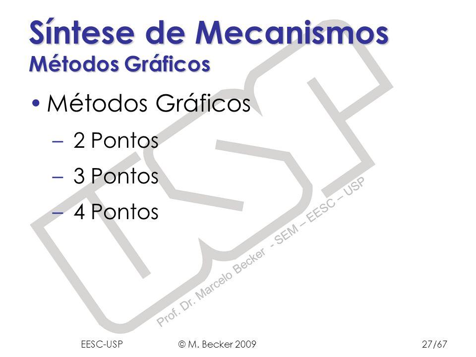 Prof. Dr. Marcelo Becker - SEM – EESC – USP Síntese de Mecanismos Métodos Gráficos Métodos Gráficos – 2 Pontos – 3 Pontos – 4 Pontos EESC-USP © M. Bec