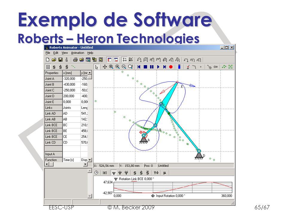 Prof. Dr. Marcelo Becker - SEM – EESC – USP Exemplo de Software Roberts – Heron Technologies EESC-USP © M. Becker 200965/67