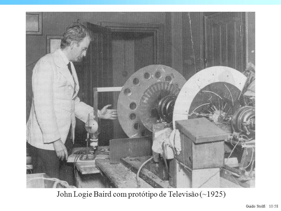 Guido Stolfi 10/58 John Logie Baird com protótipo de Televisão (~1925)