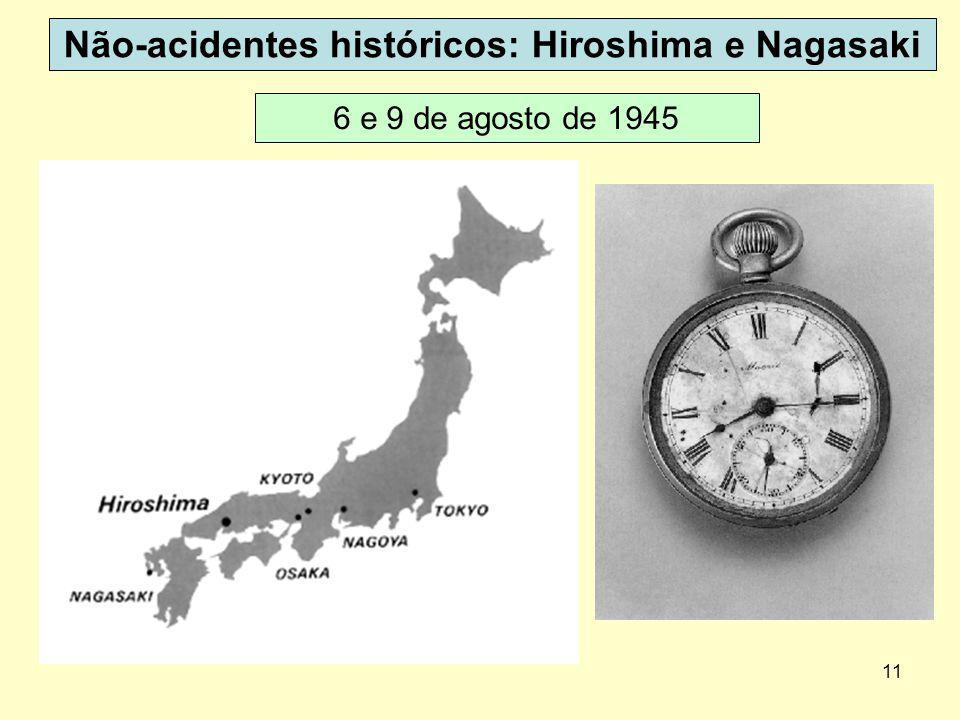 11 Não-acidentes históricos: Hiroshima e Nagasaki 6 e 9 de agosto de 1945