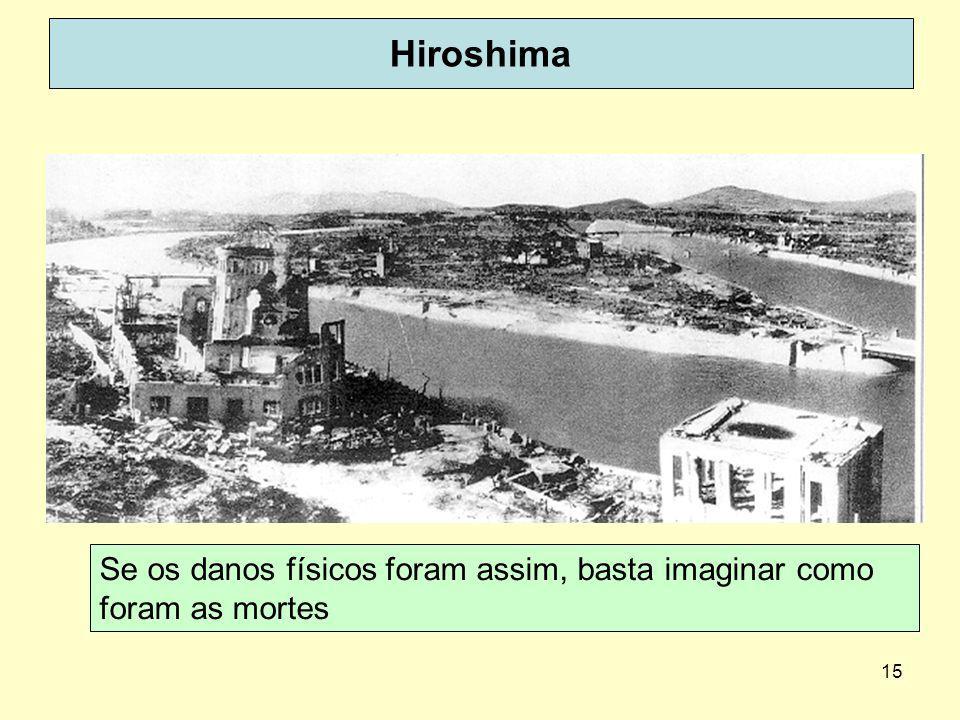 15 Hiroshima Se os danos físicos foram assim, basta imaginar como foram as mortes