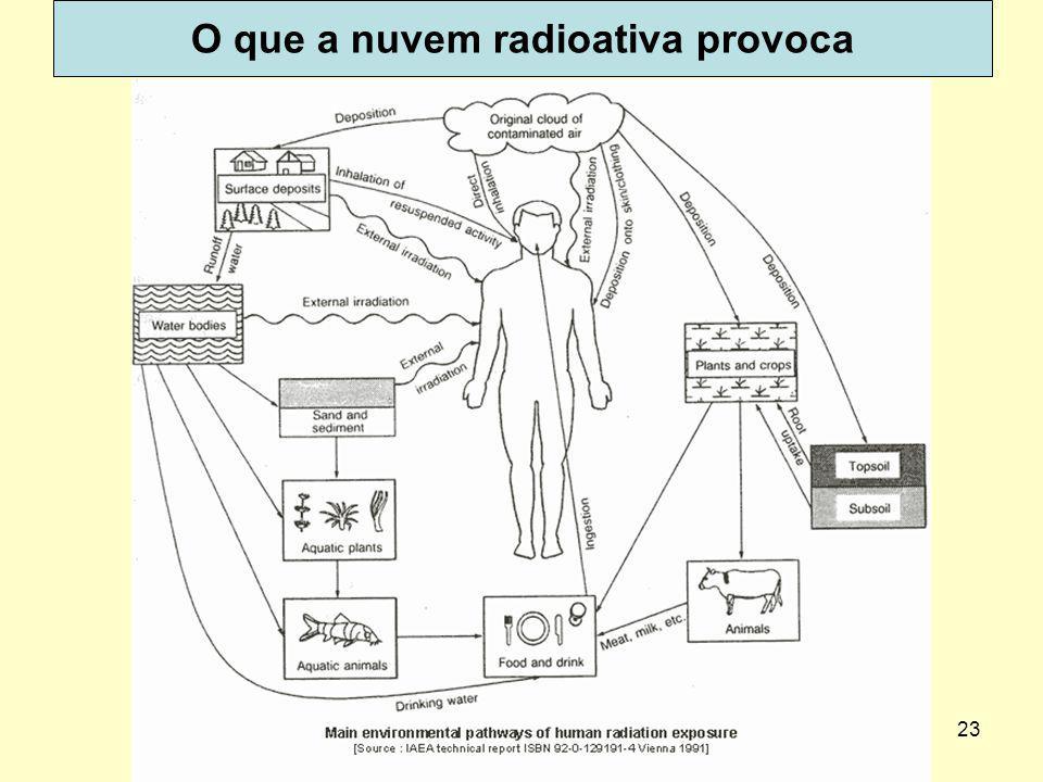 23 O que a nuvem radioativa provoca