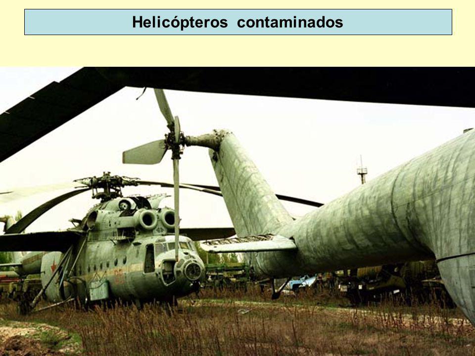 30 Helicópteros contaminados