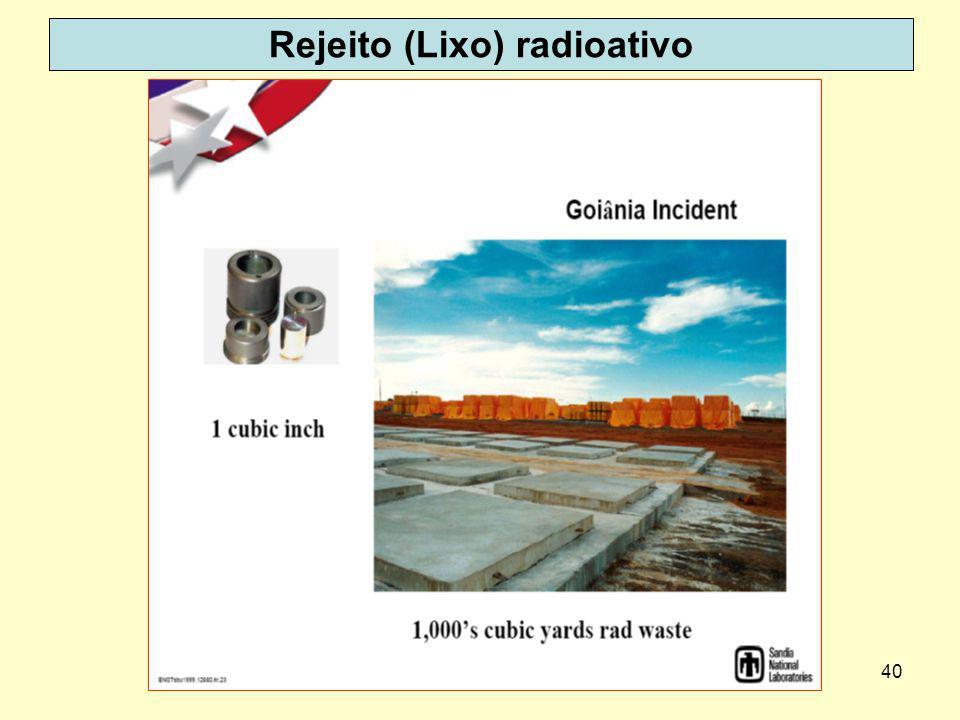 40 Rejeito (Lixo) radioativo
