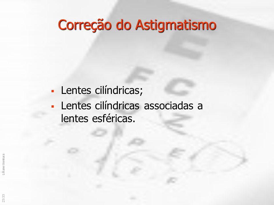 23:36Liliane Ventura Correção do Astigmatismo Lentes cilíndricas; Lentes cilíndricas; Lentes cilíndricas associadas a lentes esféricas. Lentes cilíndr