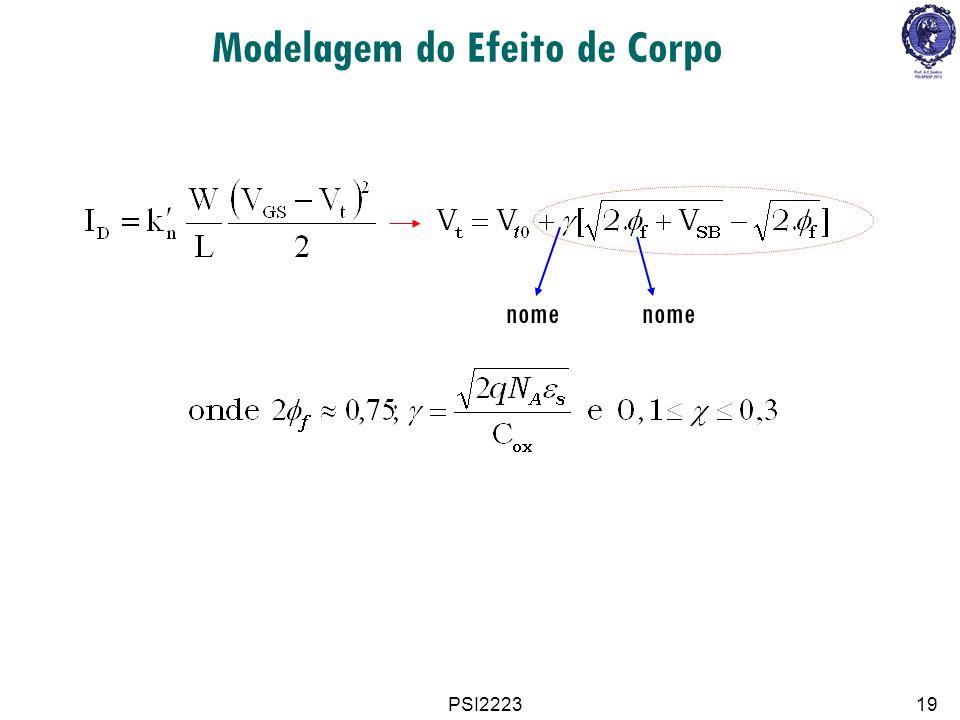 PSI222319 Modelagem do Efeito de Corpo nome