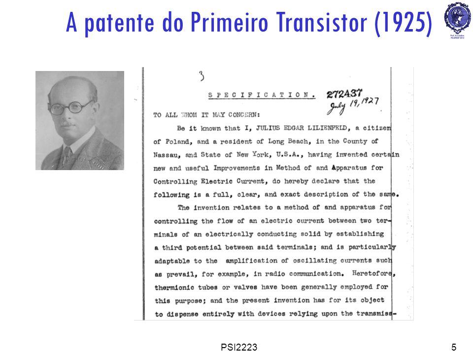PSI22235 A patente do Primeiro Transistor (1925)