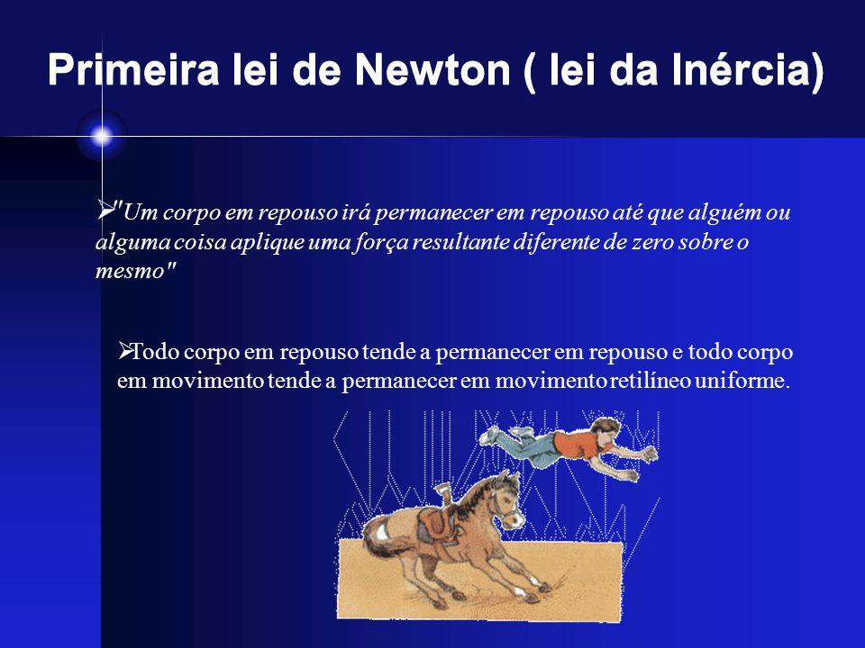 Primeira lei de Newton ( lei da Inércia)