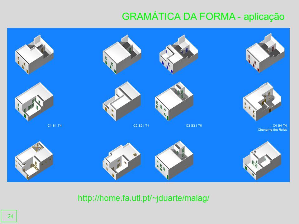 GRAMÁTICA DA FORMA - aplicação http://home.fa.utl.pt/~jduarte/malag/ 24