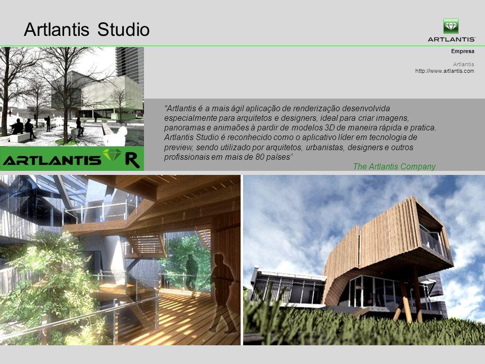 Artlantis Studio Empresa Artlantis http://www.artlantis.com Artlantis é a mais ágil aplicação de renderização desenvolvida especialmente para arquitetos e designers, ideal para criar imagens, panoramas e animaões à pardir de modelos 3D de maneira rápida e pratica.