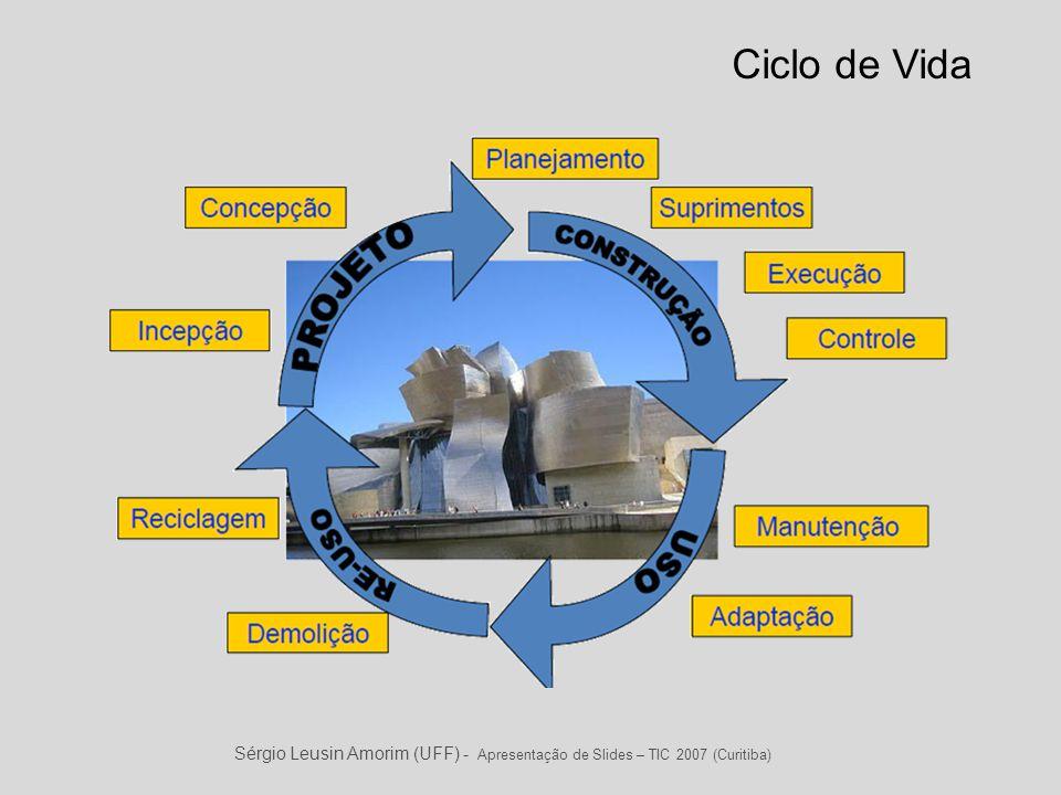 Sérgio Leusin Amorim (UFF) - Apresentação de Slides – TIC 2007 (Curitiba) Ciclo de Vida