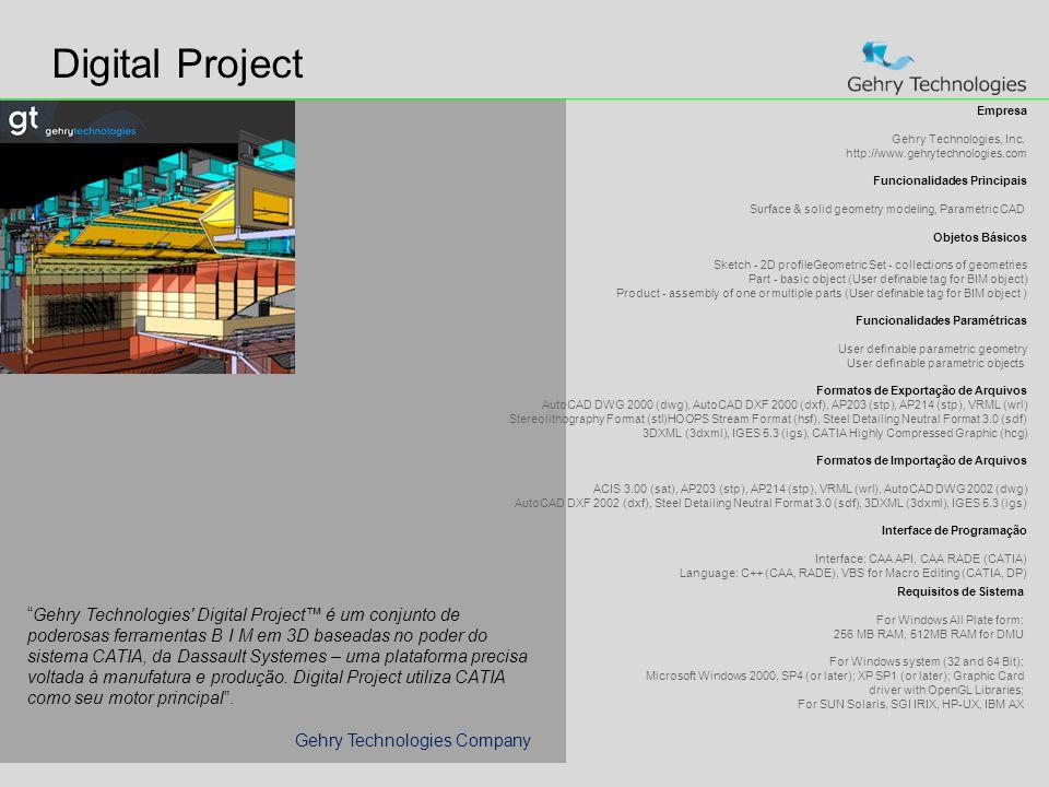 Digital Project Empresa Gehry Technologies, Inc.